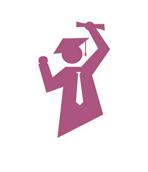 success student logo vector. graduation sign Logo symbol concept illustration